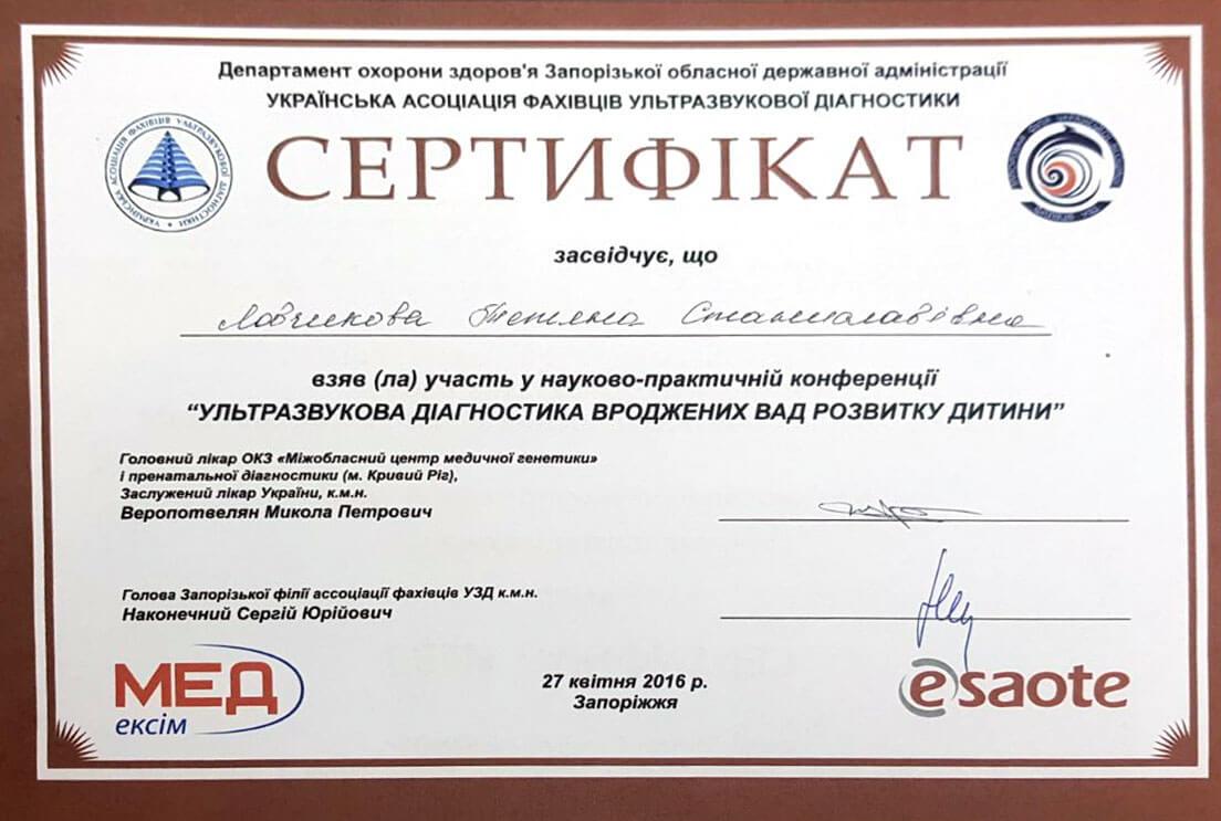 Сертификат №26