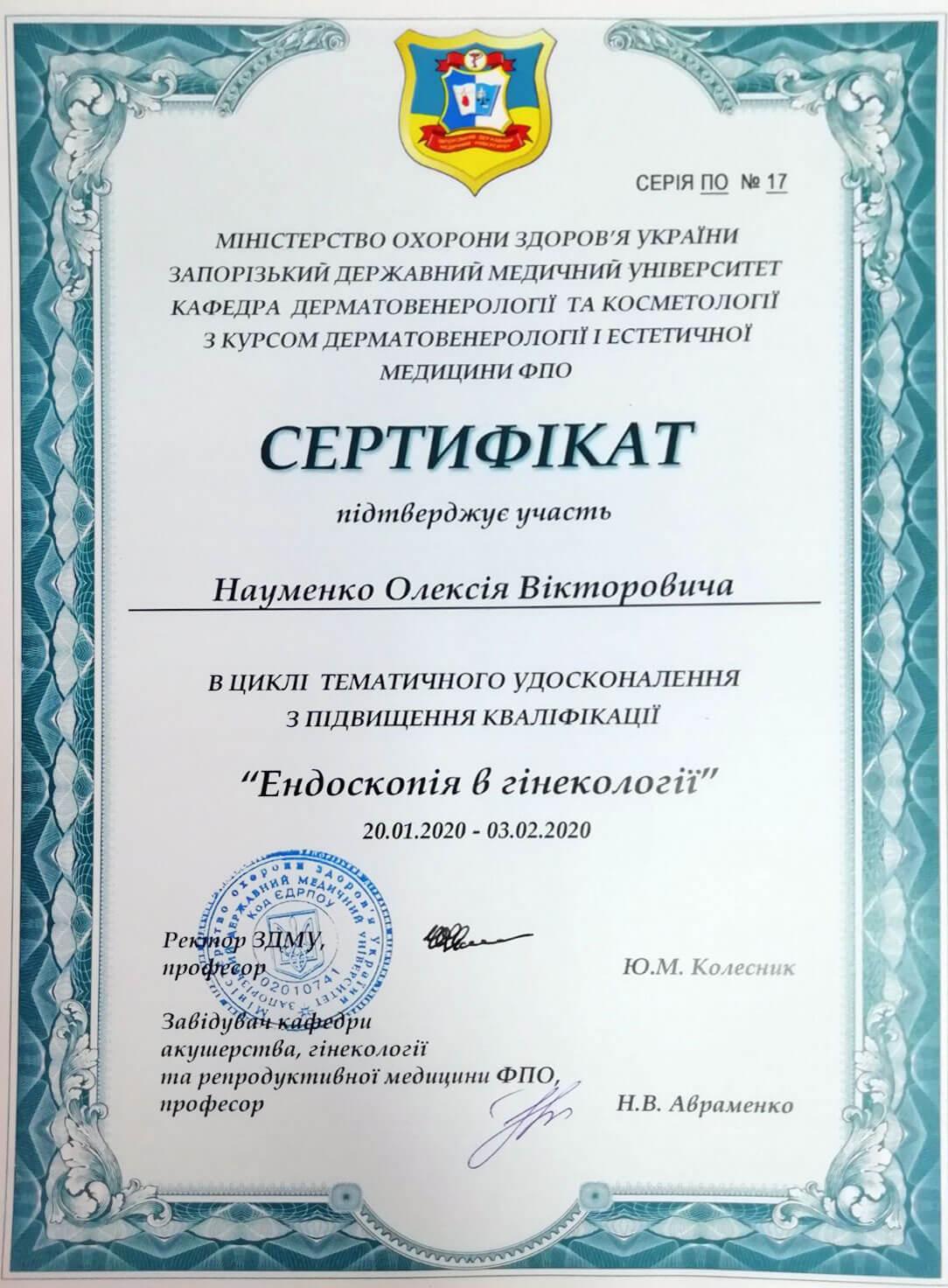 Сертификат №9