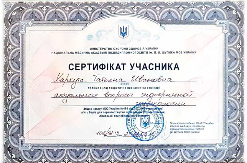 Сертификат №33